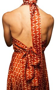 coral & Cream Maxi Dress by The Row Halter