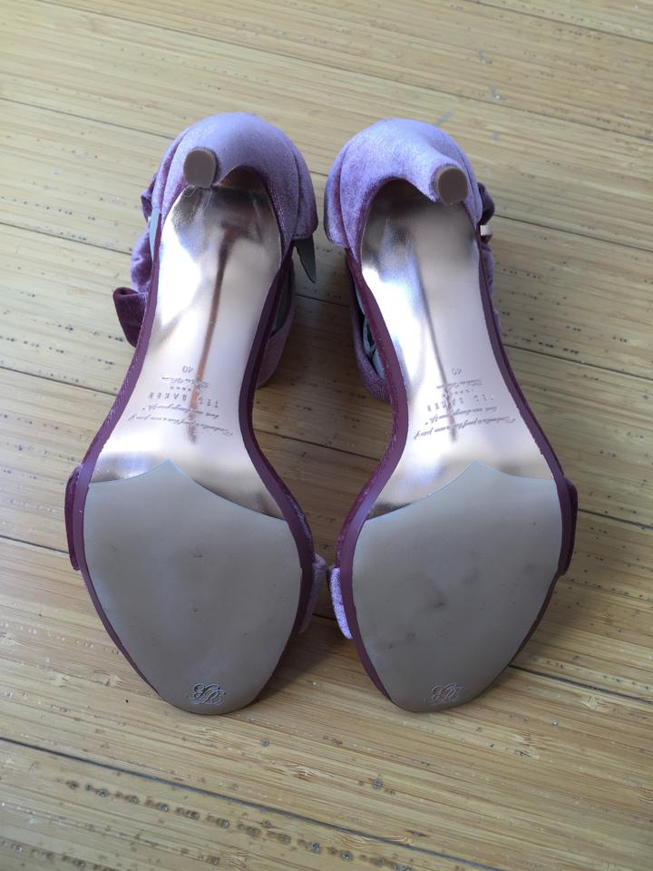 8ad80f90e7e37a Ted Baker Pink London Torabel Velvet Dress Sandals Pumps Size US 9 ...