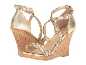 Lilly Pulitzer Lilly Sandal Gold Strappy Gold Metallic Wedges