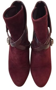 B Brian Atwood burgundy Boots
