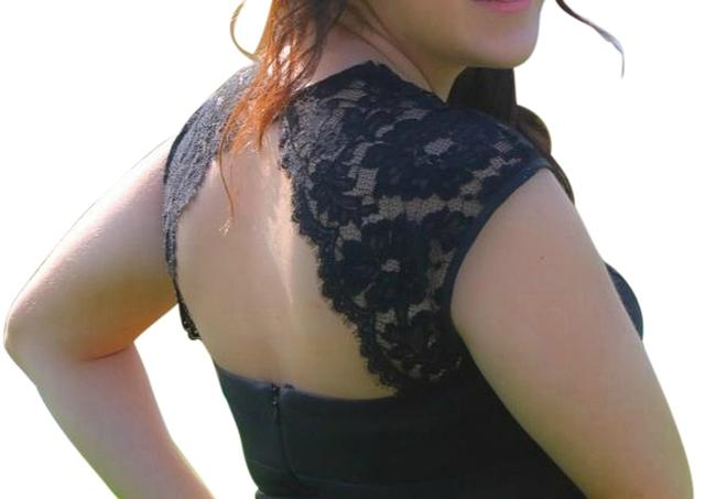 Cache Mermaid Prom Lace Detail Open Dress