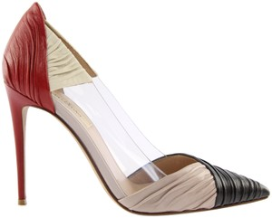 Valentino Red, Ivory, and Black Pumps
