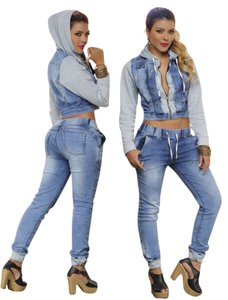Colombian Butt Lift Jeans & Jacket Skinny Jeans-Light Wash
