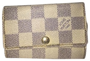 Louis Vuitton Key Holder Damier Azur Case LVTL36