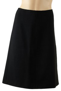 Prada Wool Blend Gored Skirt Black