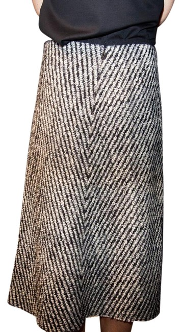 Item - Black and White Tweed Long Skirt Size 8 (M, 29, 30)