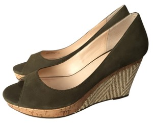 Cole Haan Green Wedges