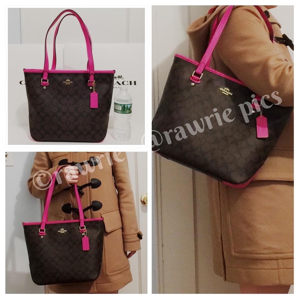 7a5b8adcf15 shopping black and brown coach tote 33c4e aa404