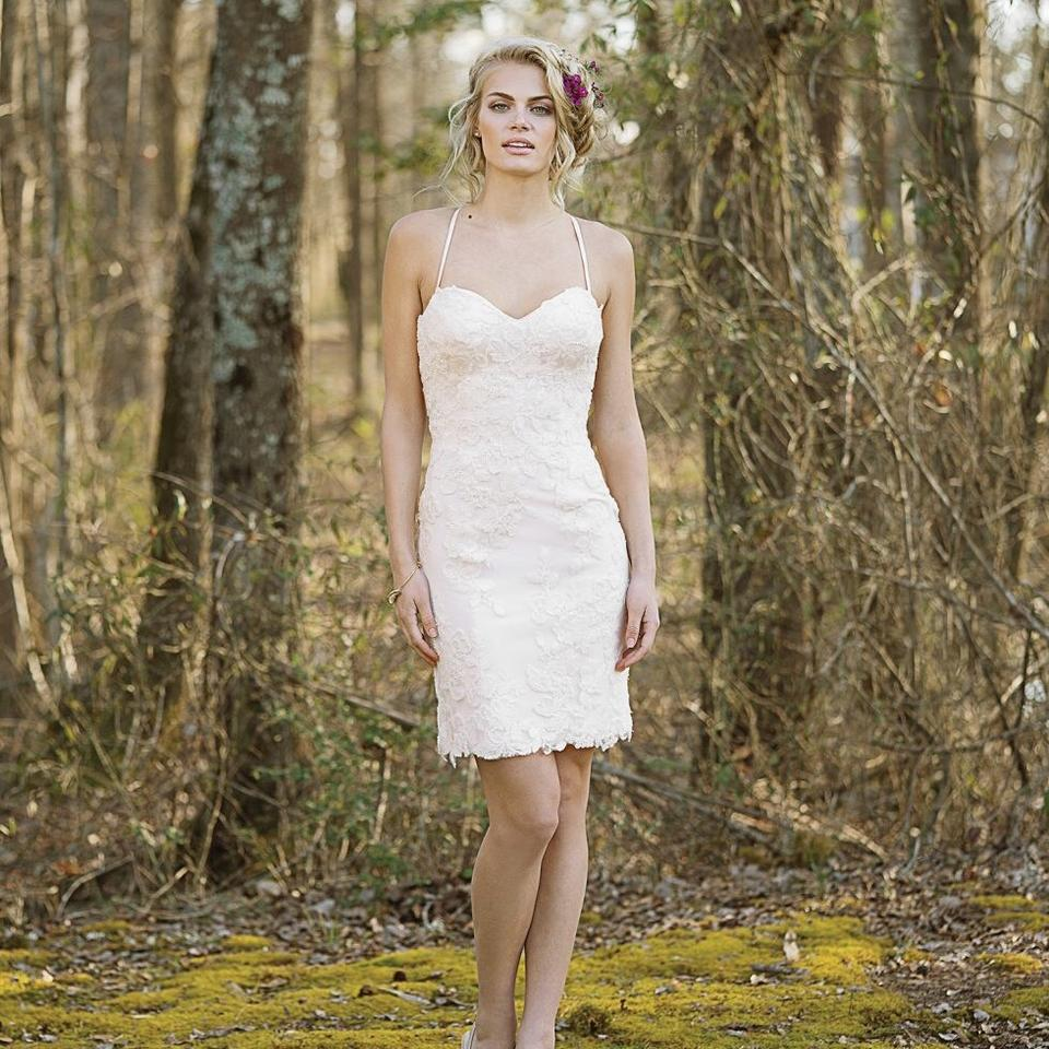 Lillian West Ivory/Sand Tulle 6462 Casual Wedding Dress Size 12 (L ...