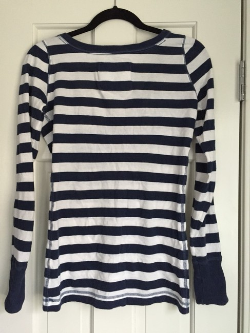 Abercrombie & Fitch T Shirt Blue And White