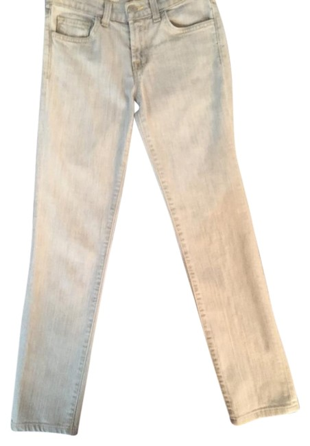Item - Grey with Gold Stitching Light Wash 812 Gre Cut #271 Capri/Cropped Jeans Size 24 (0, XS)