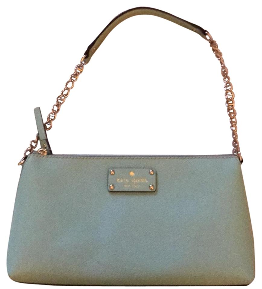 1a1a8823ca10c Kate Spade Light Blue Leather Shoulder Bag - Tradesy