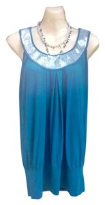Studio Y Dress Sparkle Top Teal/with sliver trim