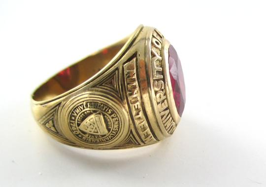 Other 10KT YELLOW GOLD UNIVERSITY OF PENNSYLVANIA 1740 RING CLASS OF 1943 SZ 8.5 RUBIE