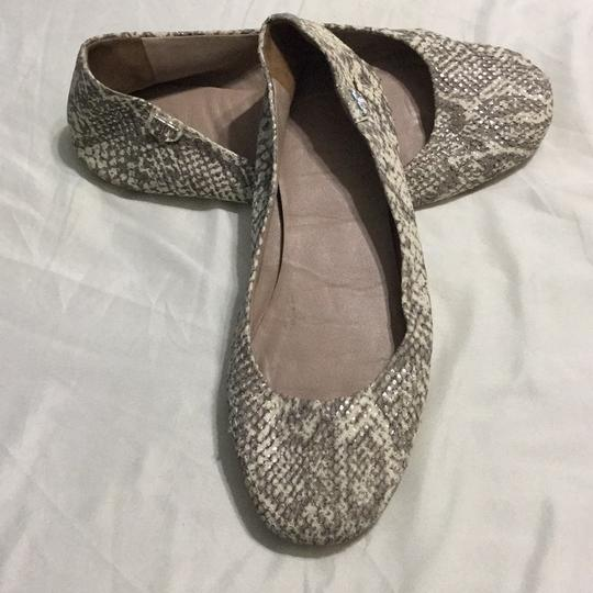 Tory Burch White, gray with silver shimmers Flats Image 1