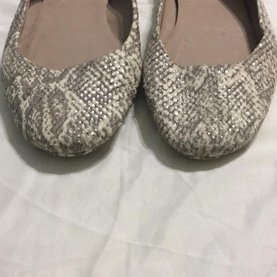 Tory Burch White, gray with silver shimmers Flats Image 2