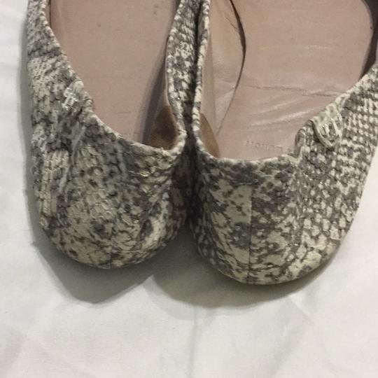 Tory Burch White, gray with silver shimmers Flats Image 3