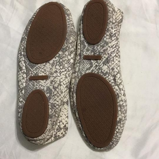 Tory Burch White, gray with silver shimmers Flats Image 5