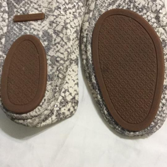 Tory Burch White, gray with silver shimmers Flats Image 7