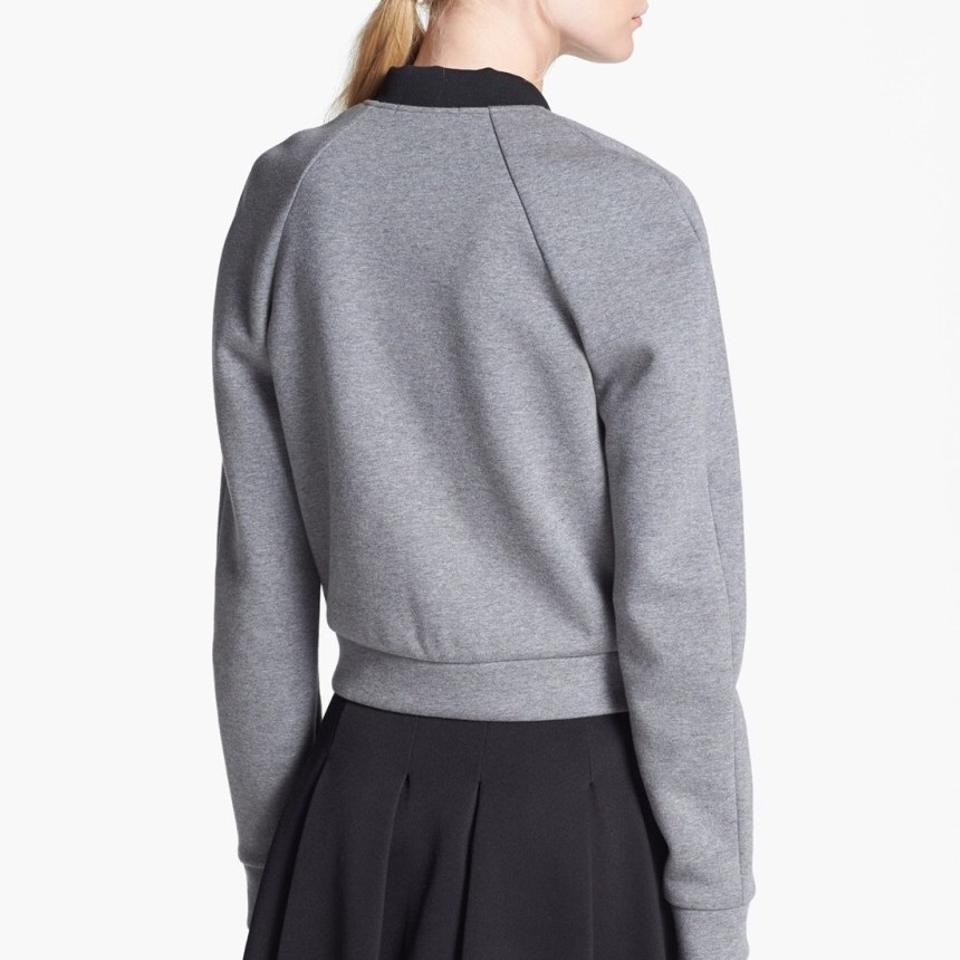 36dbd1a49 T by Alexander Wang Gray Jersey Bonded & Neoprene Bomber Jacket Size 6 (S)  75% off retail