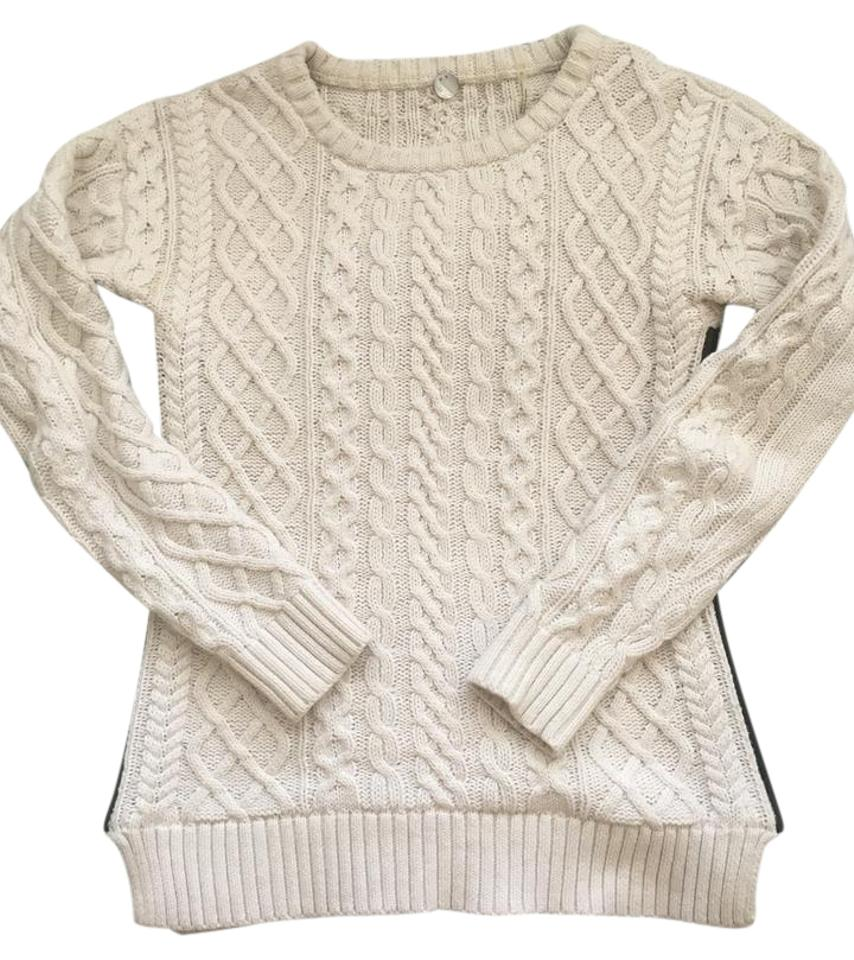 a478df091fa Margaret O Leary Cable Knit Cream Sweater - Tradesy