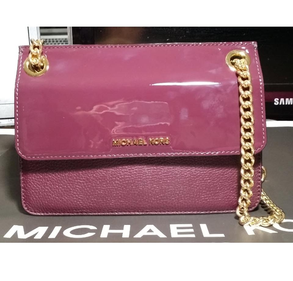 546a46f03b33 Michael Kors Shoulder Bedford Whitney Daniel Chain Convertible Red Patent Leather  Cross Body Bag - Tradesy