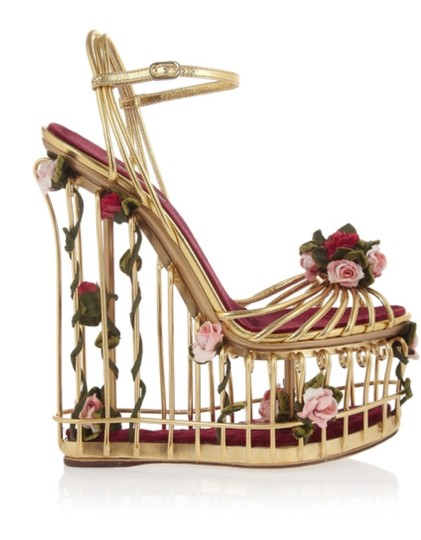 Preload https://img-static.tradesy.com/item/22147780/dolce-and-gabbana-metallic-gold-dolce-and-gabbana-rose-embellished-leather-floral-cage-wedges-size-e-0-0-540-540.jpg
