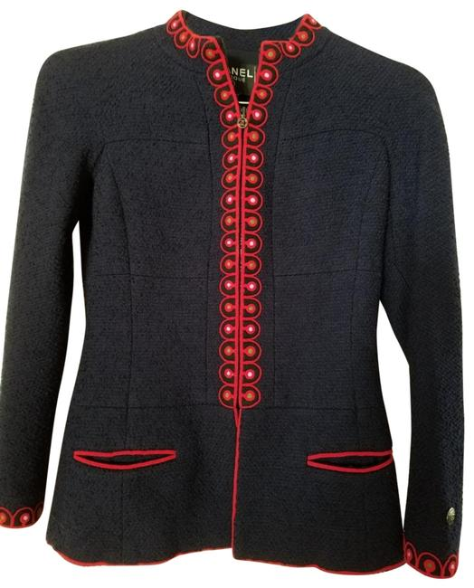 Item - Navy Vintage Jacket with Red Trim; F38; Us Excellent Conditio Skirt Suit Size 6 (S)