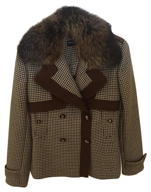 Item - Brown D & Style Wool Jacket Size 6 (S)