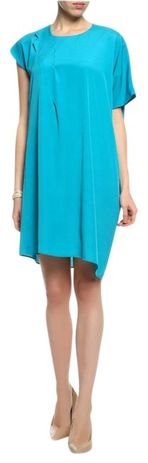 Maison Margiela Turquoise Chic Sleeve Short Casual Dress Size 6 (S) Maison Margiela Turquoise Chic Sleeve Short Casual Dress Size 6 (S) Image 1
