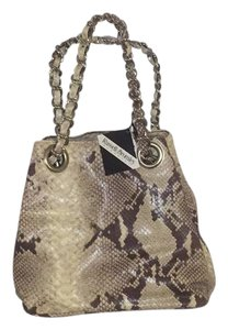 Russel And Bromley Snakeskin Chain Tags Metal Pocket Baguette