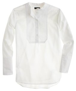 J.Crew Preppy Bibshirt Top white