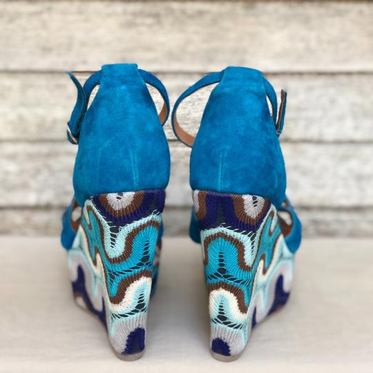 Jeffrey Campbell Blue Wedges
