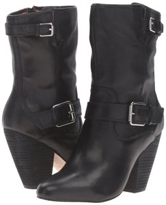 Corso Como Leather Western Moto Black Boots