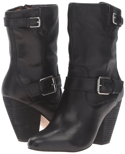 Corso Como Leather Western Black Boots