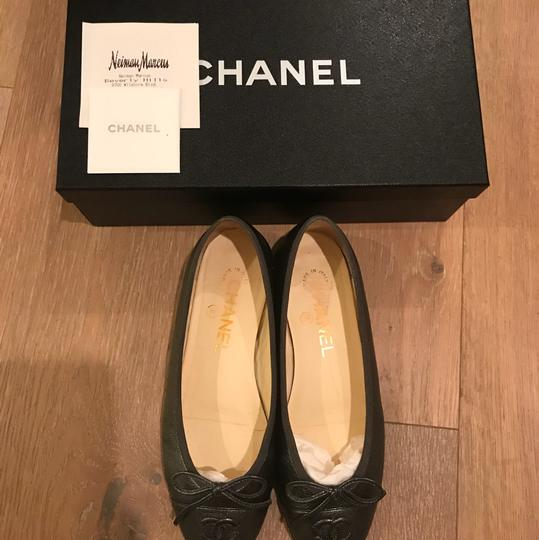 Chanel silver/gray Flats