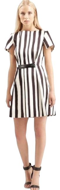 Preload https://img-static.tradesy.com/item/22148759/topshop-white-and-black-shoto-a-line-cap-sleeves-stripped-short-casual-dress-size-4-s-0-3-650-650.jpg