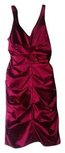 Nicole Miller Holiday Party Homecoming Prom Sheath Satin Body Con Dress