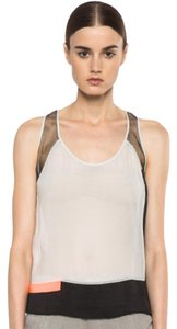 Helmut Lang Top black, white/gray, orange
