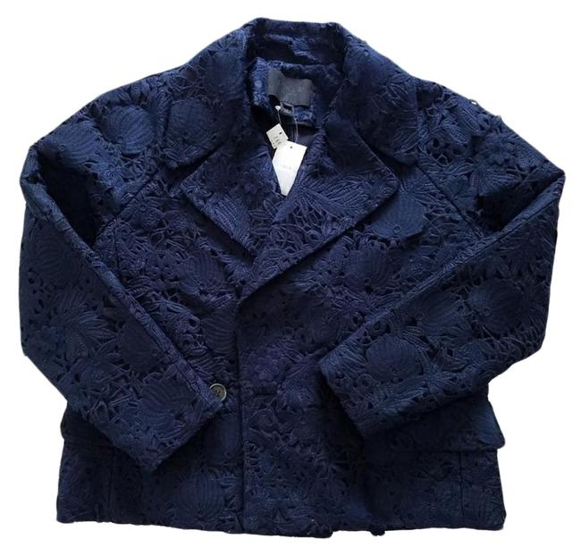 Preload https://img-static.tradesy.com/item/22148877/jcrew-navy-collection-collection-lace-blazer-size-12-l-0-3-650-650.jpg