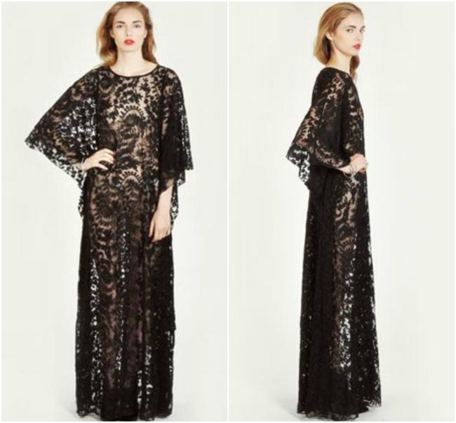 Black Maxi Dress by Odylyne Free People Bona Drag Witchy Stevie Nicks Lace Jen's Pirate Booty