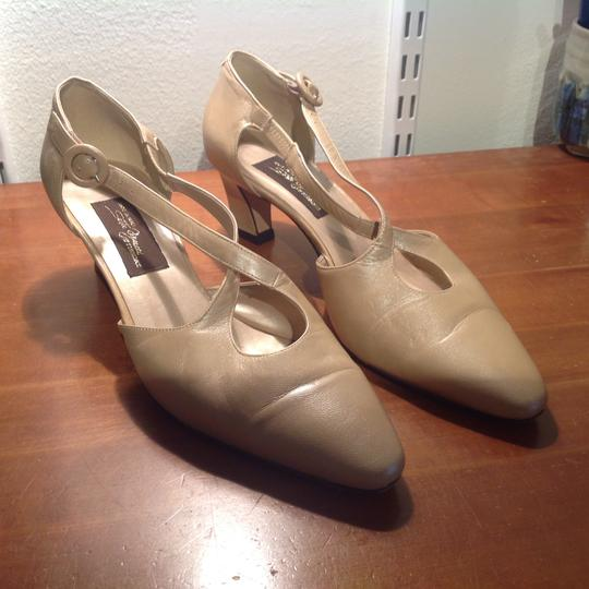 Sesto Meucci Made In Italy Leather Gold Pumps