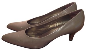 Sesto Meucci Made In Italy Leather Taupe Pumps