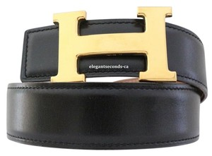 Hermès Auth. Hermes 32MM/85CM Constance Reversible Belt Kit Gold Buckle.