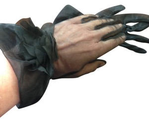 Elegant Black Organza Gloves