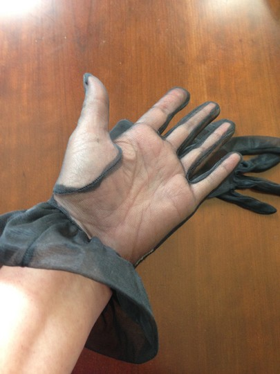 Other Elegant Black Organza Gloves