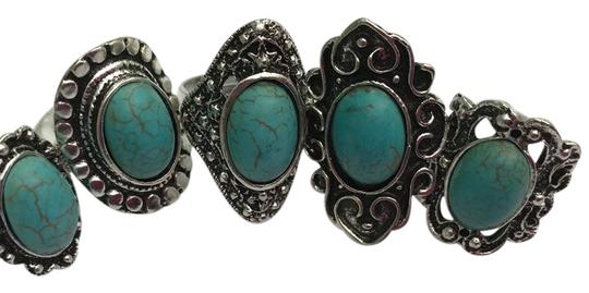 Preload https://img-static.tradesy.com/item/22149456/turquoise-and-silver-ladies-5ps-vintage-assorted-rings-one-sizeadjustable-ring-0-3-540-540.jpg