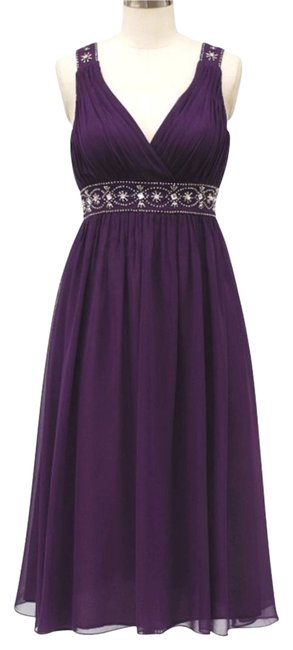Preload https://img-static.tradesy.com/item/2214973/purple-chiffon-embellished-pleated-goddess-v-neck-mid-length-formal-dress-size-12-l-0-0-650-650.jpg