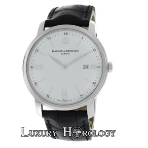 Baume & Mercier Authentic Mens Baume & Mercier Classima XL 65493 Steel Quartz 41MM