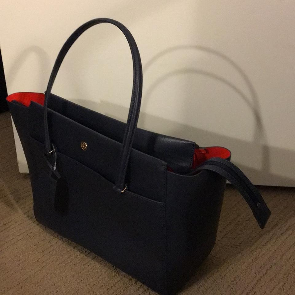 e4b37f6cf1fc Tory Burch Parker Zip Closure. Navy   Samba Unlined Leather with A ...